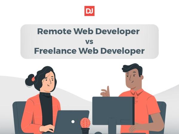 freelance web developer vs remote web developer