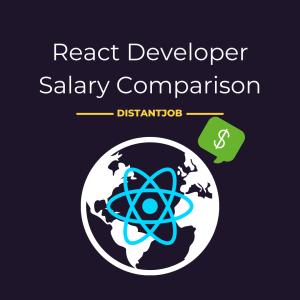React developer salary comparison