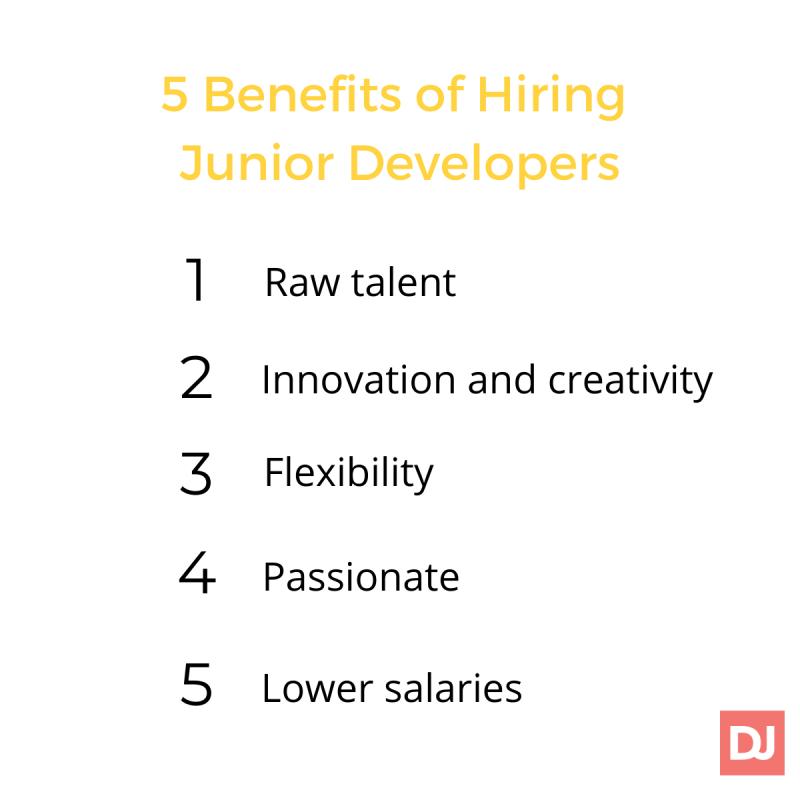 benefits of hiring junior developers