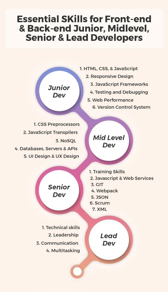 Junior Midlevel Senior Lead Developers