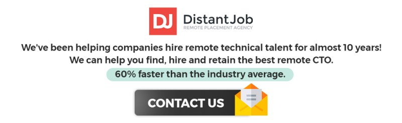 Hire a remote CTO with DistantJob