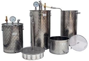 distillateur de plantes INOX multiplantes 25 +50 +100 litres