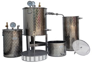 distillateur de plantes INOX multiplantes 25+50+100 litres fond feu