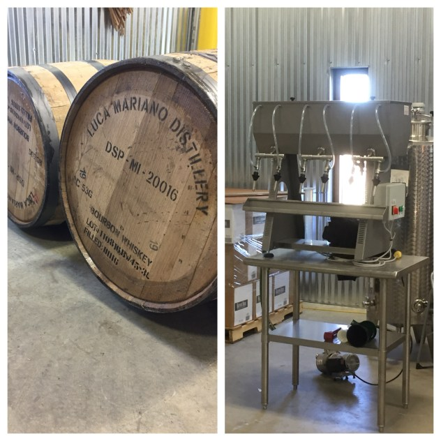Barreling and bottling at Wilderness Trail Distillery