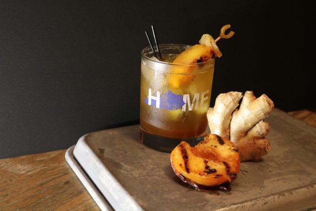 Bourbon Ginger Peach Shrub