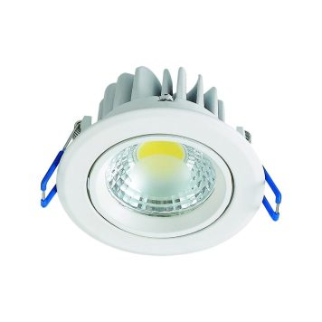 Spot LED downlight 5W rond blanc