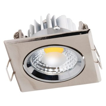Spot LED downlight 3W carré Mat chrome