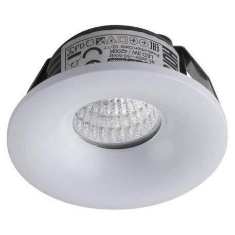 Mini spot LED fixe rond 3W (24W) 4200K Blanc