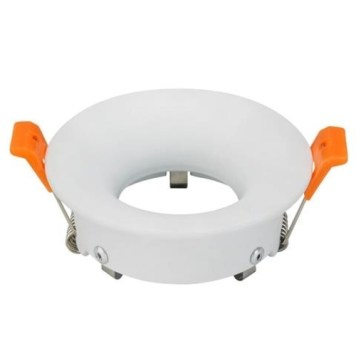 Support spot rond blanc fixe