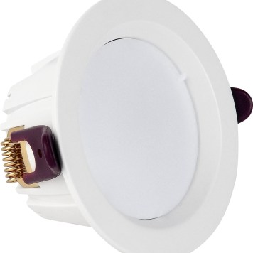 Spot COB LED downlight rond blanc dimmable 7W (Eq. 56W) Diam 98mm 4000K 120°