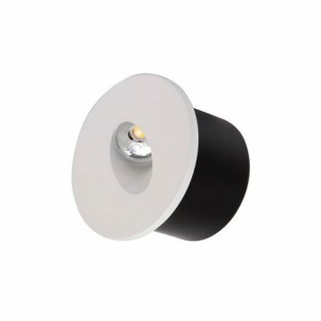 Spot LED mural rond mat chrome 3W