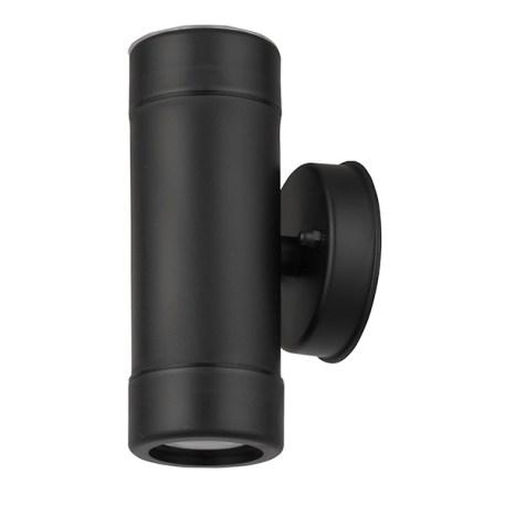 Applique extérieur noir forme cylindrique 2 spots