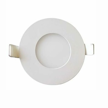 Dalle LED extra plate ronde blanc dimmable 3W (Eq. 24W) 6400K Diam 83mm
