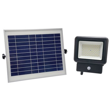 projecteur led autonome avec panneau solaire déporté 50w