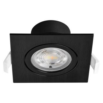 Spot LED encastrable 3en1 carré noir