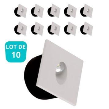 Lot de 10 spots LED à encastrer au mur