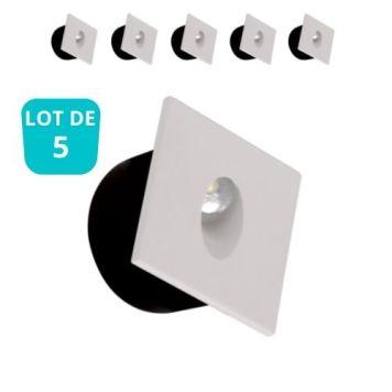 Lot de 5 Spots LED à encastrer au mur