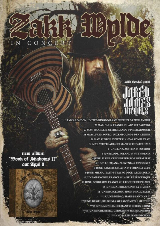 Zakk Wylde EU Tour '16 Flyer