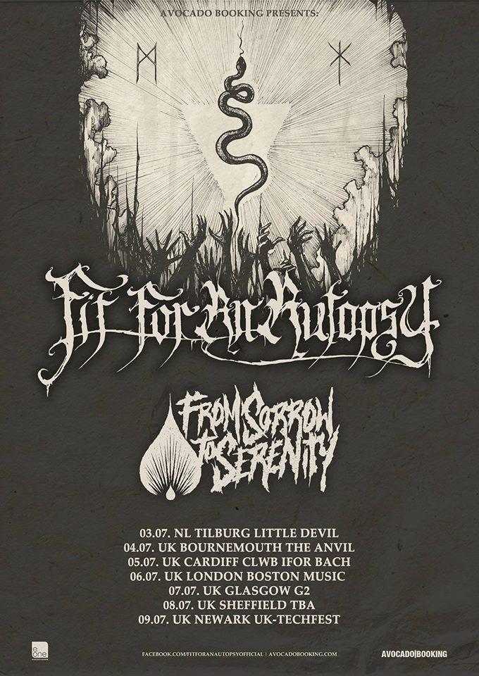 Fit For An Autopsy EU Tour Poster 2016