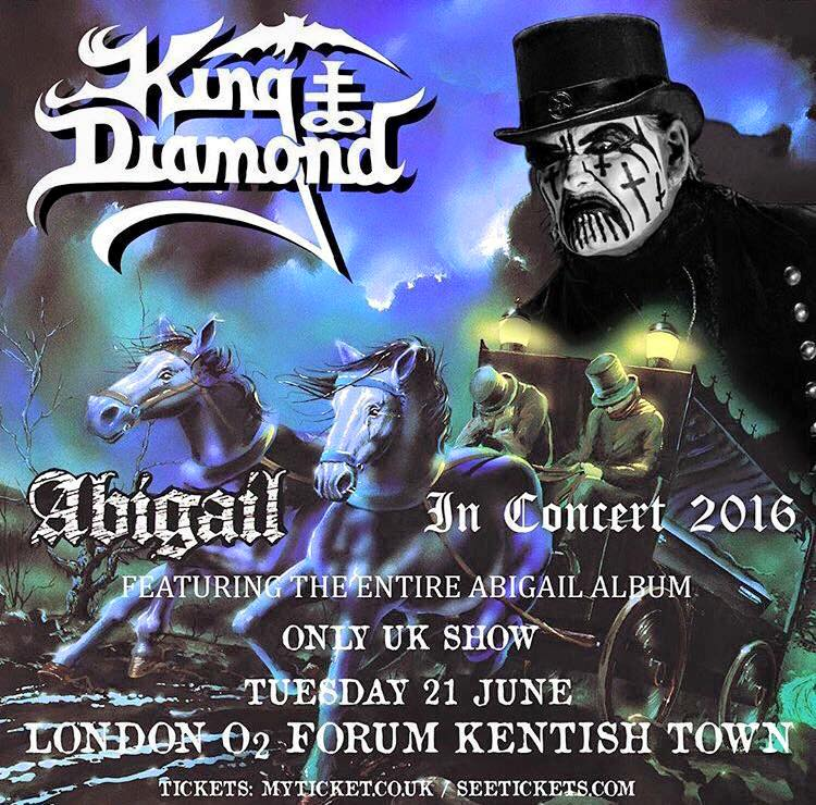 King Diamond London Flyer 2016