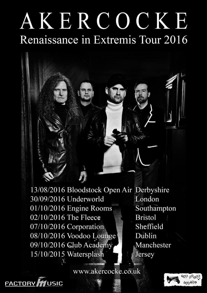 Akercocke UK Tour Poster 2016