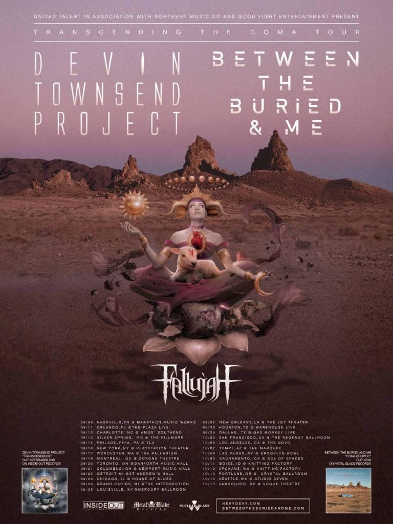 Devin Townsend Project/BTBAM US Tour Poster 2016