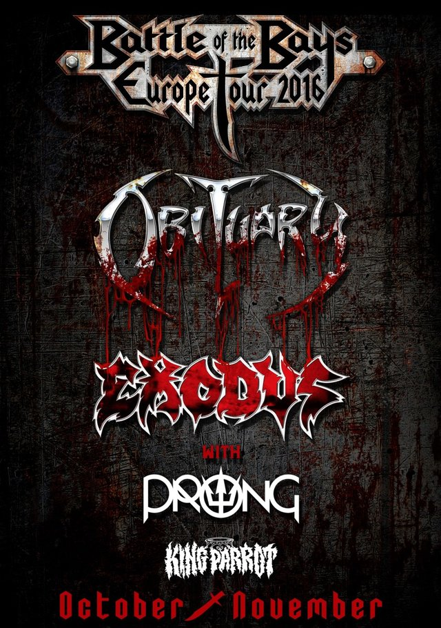 Exodus UK tour