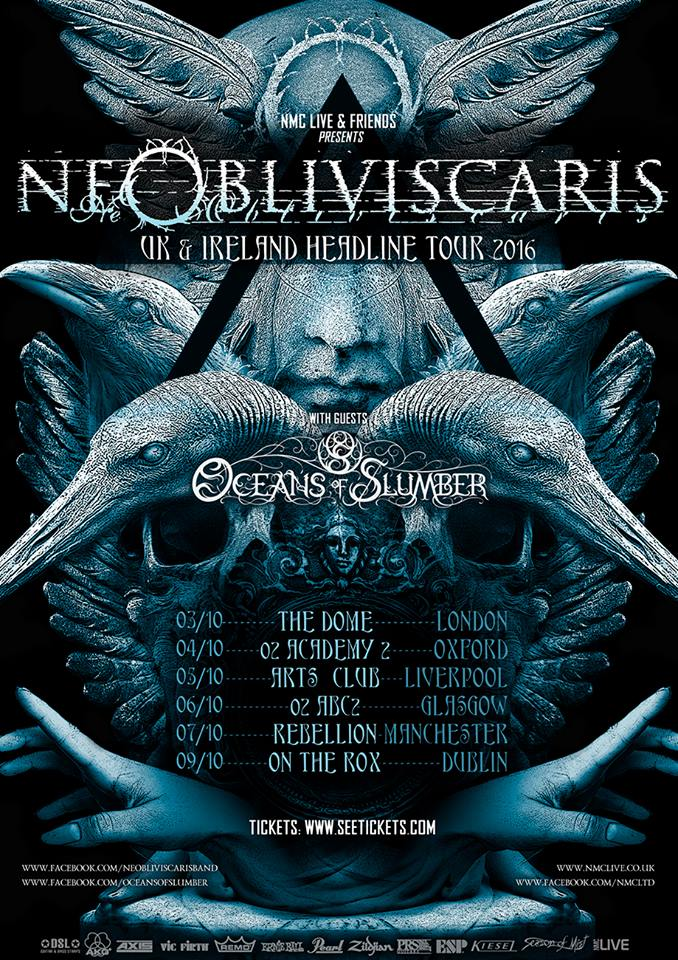 Ne Obliviscaris UK headline tour