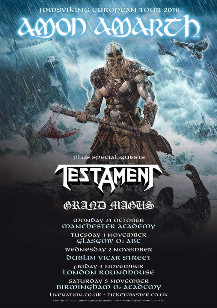 Amon Amarth UK tour