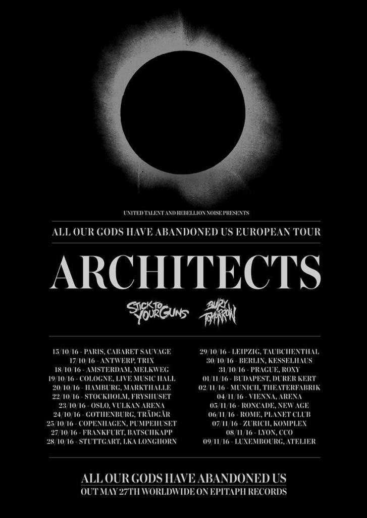 Architects EU Tour Poster 2016