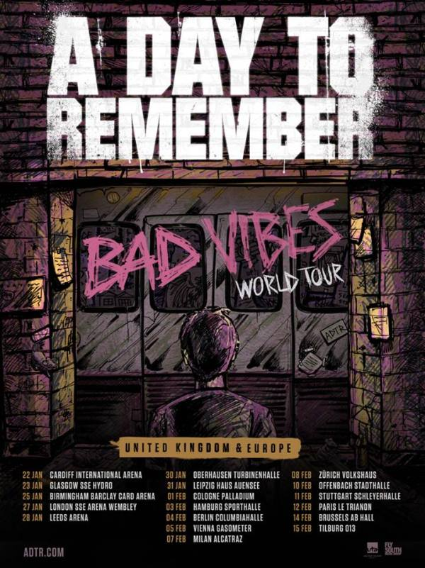 A Day To Remember European Tour 2017