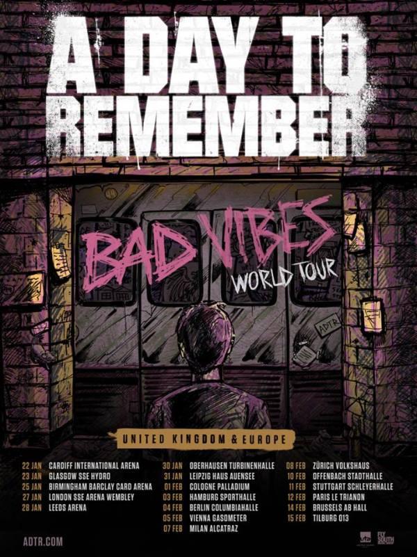 A Day To Remember European Tour 2017