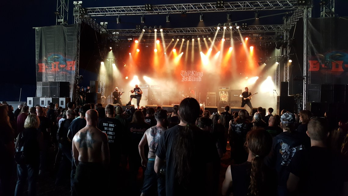 The King Is Blind live at Bloodstock Festival. Photo Credit: James Weaver