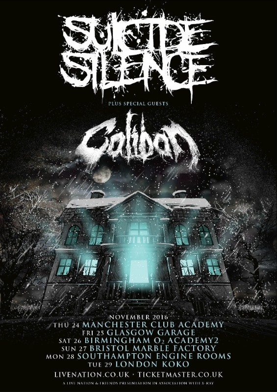 Suicide Silence UK tour 2016