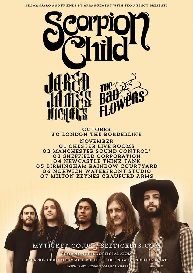 Scorpion Child tour poster