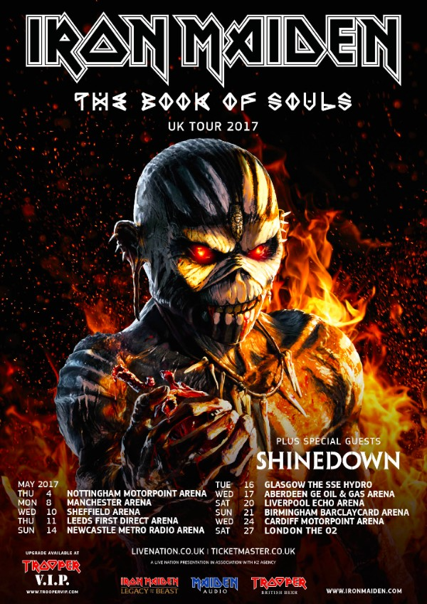 Iron Maiden UK tour 2017