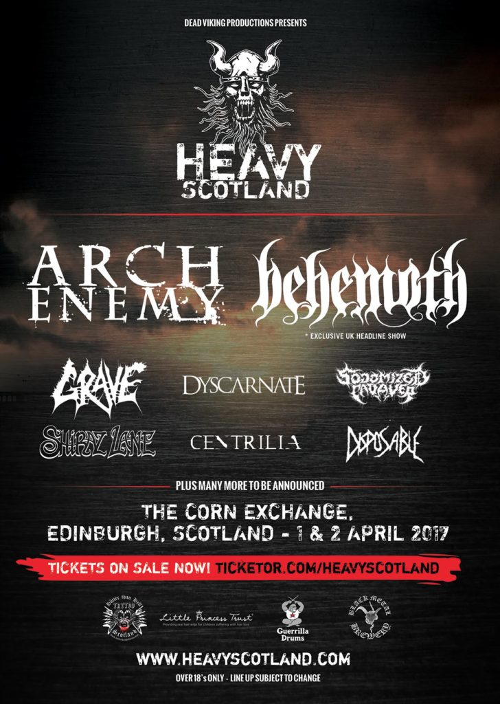 Heavy Scotland Lineup 2017
