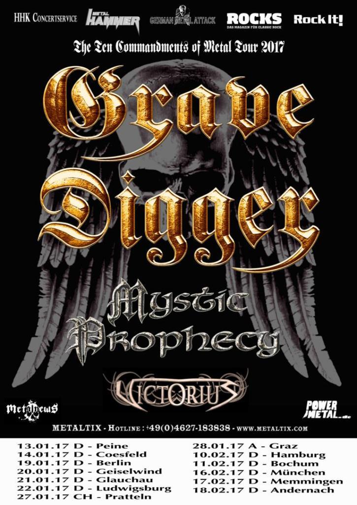Grave Digger EU tour 2017