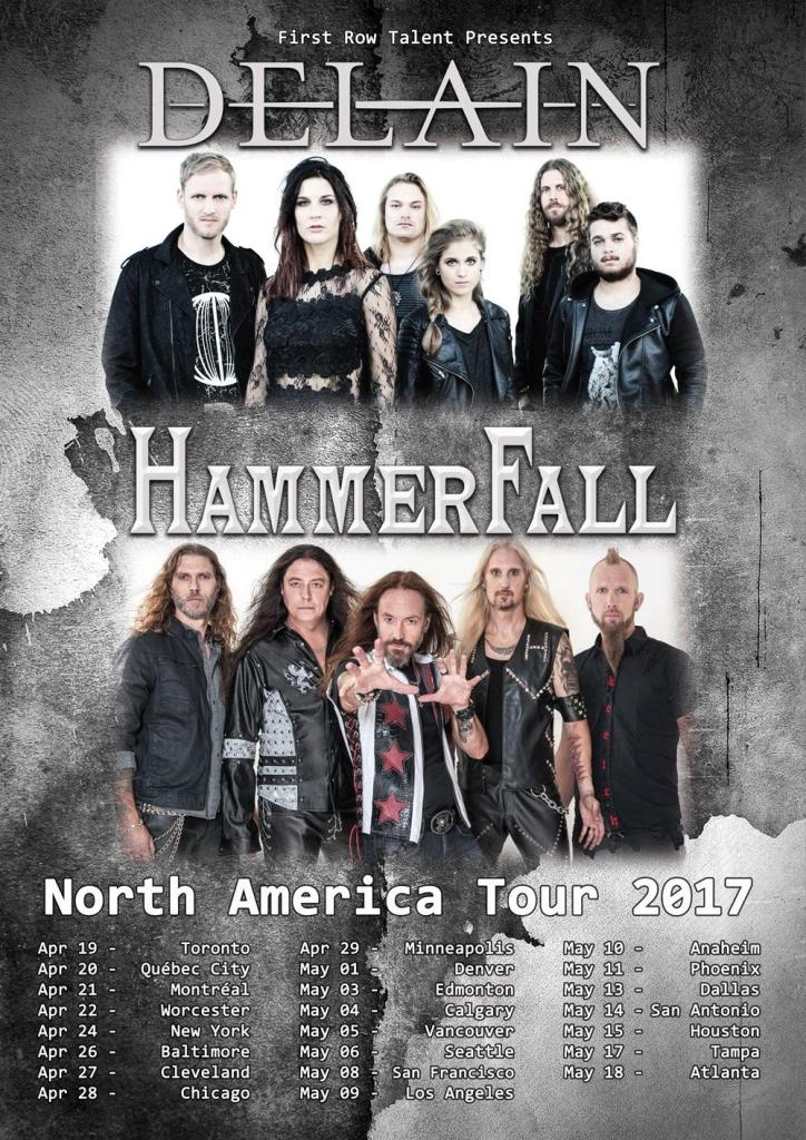 Delain and Hammerfall North American tour