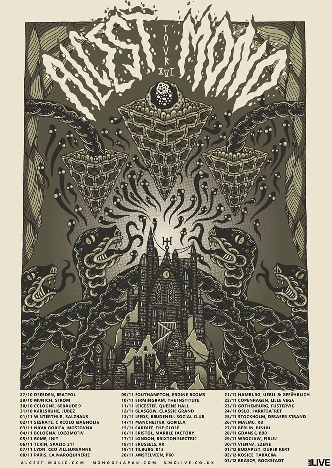 Alcest, Mono and Sinistro EU tour dates