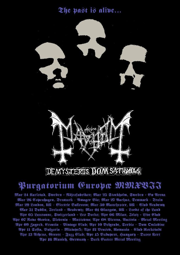 Mayhem EU tour 2017