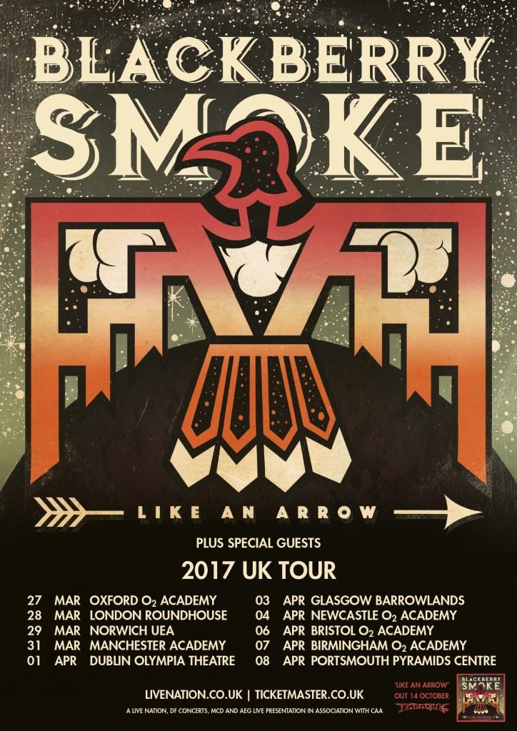 Blackberry Smoke UK tour 2017