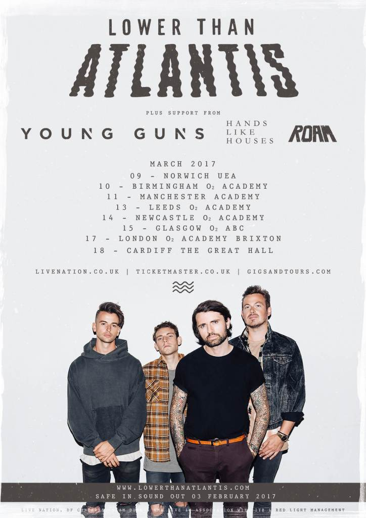 Lower Than Atlantis UK Headline Tour