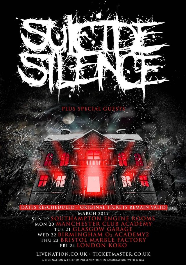 Suicide Silence tour dates