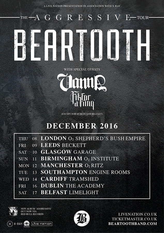 Beartooth and Vanna tour