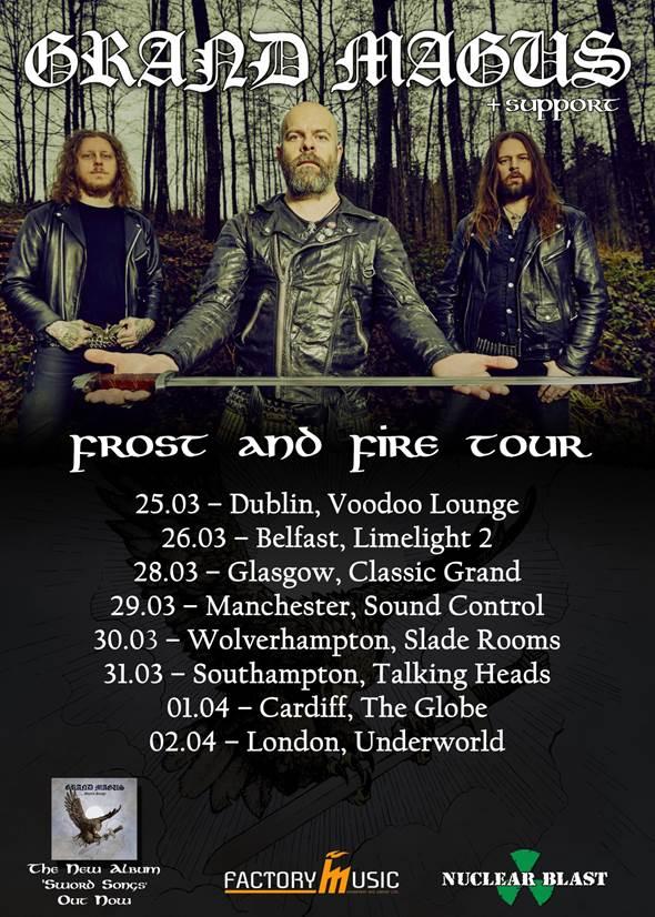 Grand Magus UK tour 2017