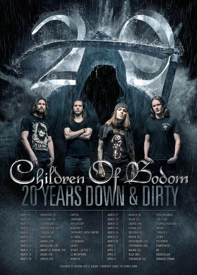 Children of Bodom EU Tour 2017