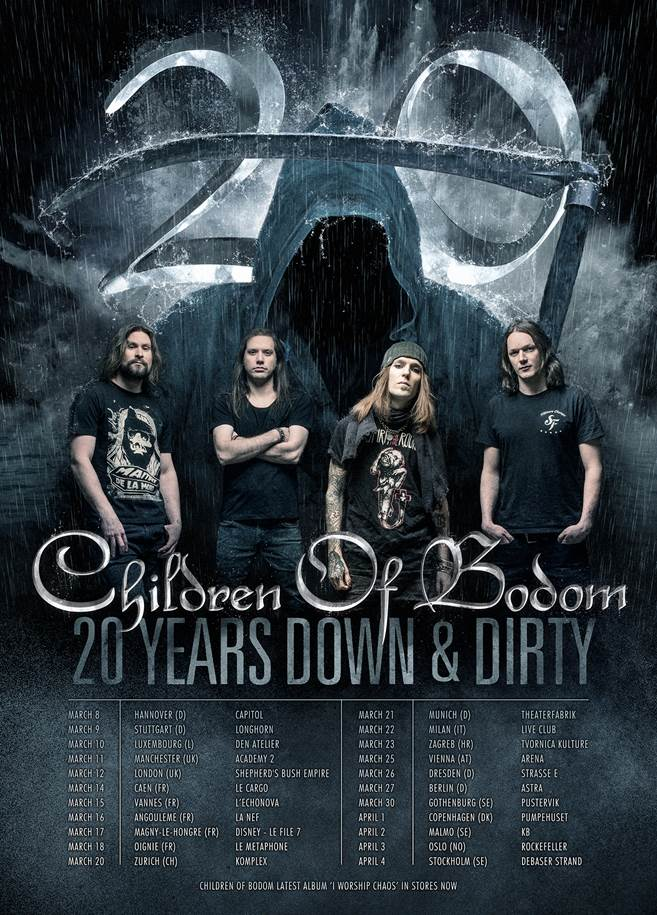 Children of Bodom EU Tour 2017