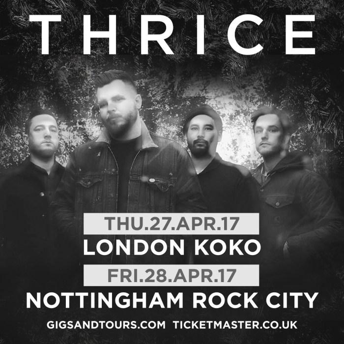 Thrice UK tour 2017