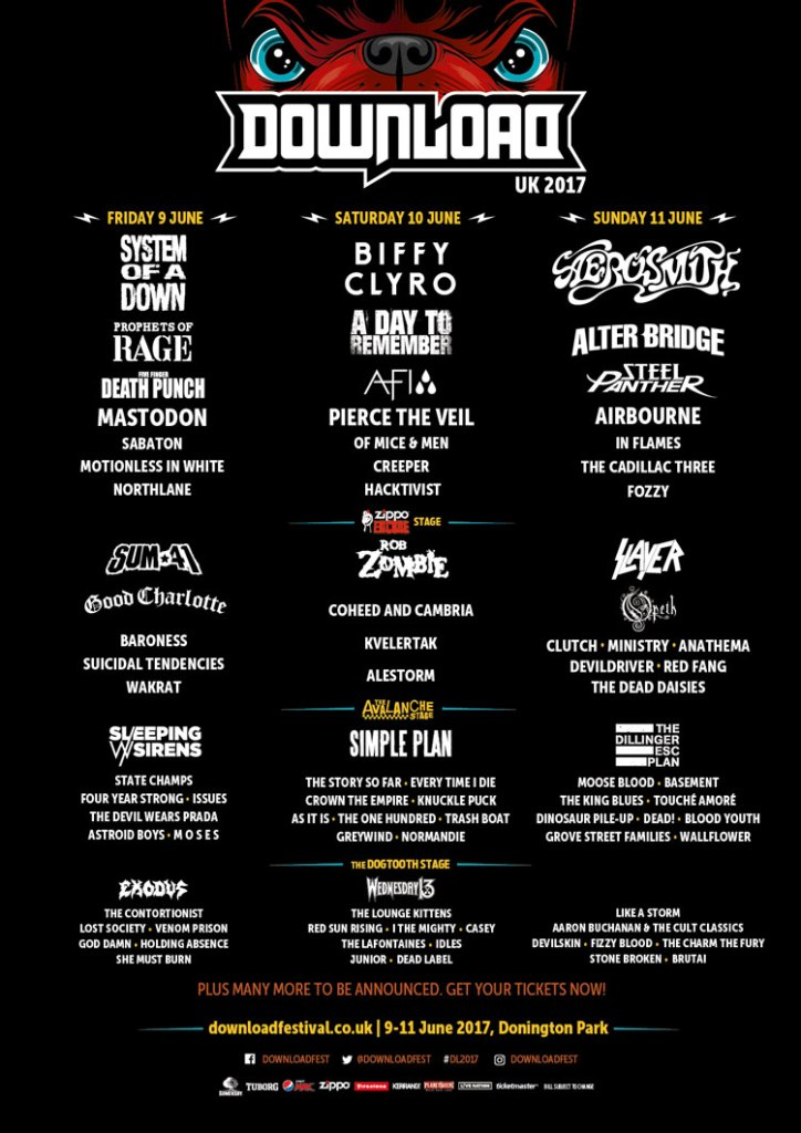 Download Festival Feb Announcement